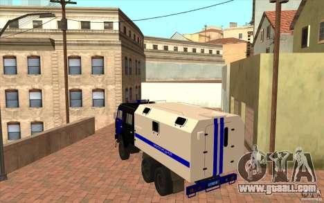 Kamaz Police for GTA San Andreas right view
