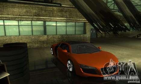 Audi R8 V12 TDI for GTA San Andreas inner view