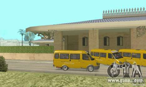 Gaz 2705 Minibus for GTA San Andreas back left view