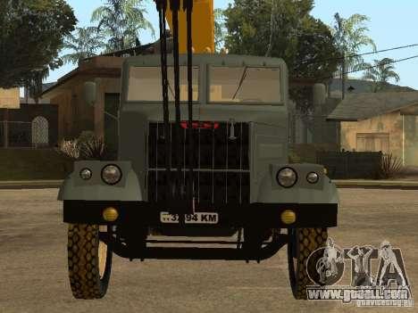 KrAZ truck for GTA San Andreas back view