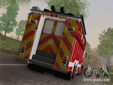 Pierce Walk-in SFFD Heavy Rescue for GTA San Andreas interior