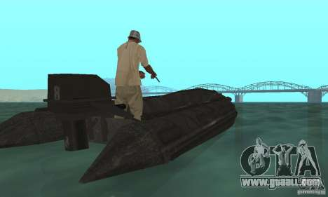 Boat of Cod mw 2 for GTA San Andreas left view
