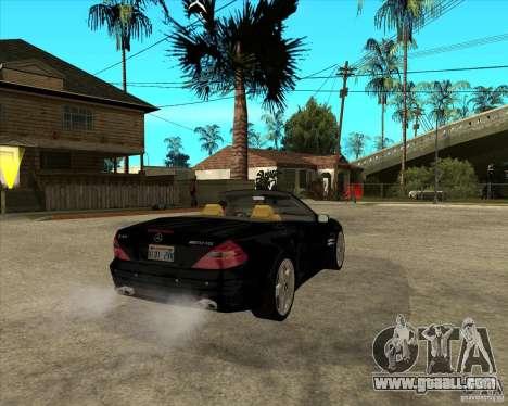 Mercedes Benz AMG SL65 V12 Biturbo for GTA San Andreas back left view