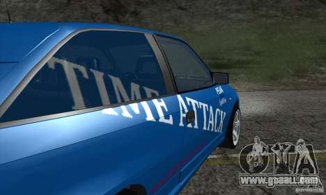 Opel Astra Time Attack for GTA San Andreas inner view