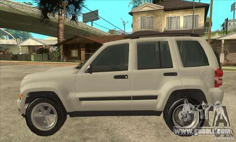 Jeep Liberty 2007 Final for GTA San Andreas left view