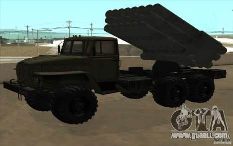 Ural 4320 Grad v2 for GTA San Andreas back view