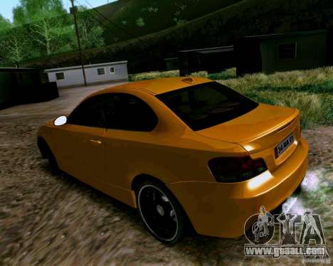 BMW 135 Tuning for GTA San Andreas back left view