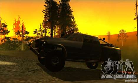 Dodge Ram All Terrain Carryer for GTA San Andreas back left view