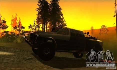 Dodge Ram All Terrain Carryer for GTA San Andreas back left view