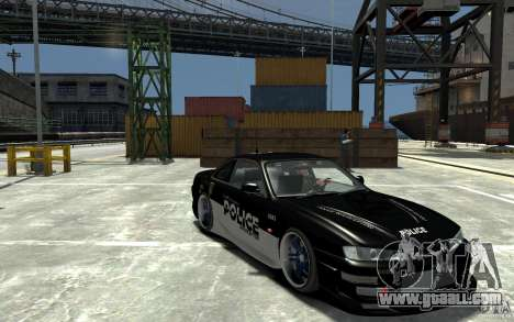 Nissan 200SX Police v0.2 for GTA 4 back view