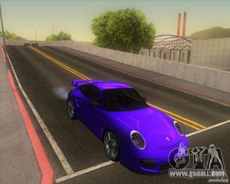 Porsche 911 GT2 (997) for GTA San Andreas inner view