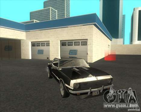 Chevrolet Camaro RSSS 396 1968 (fixed) for GTA San Andreas back left view