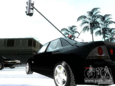 Lexus IS300 for GTA San Andreas bottom view