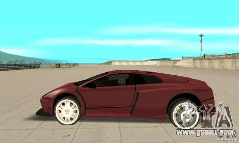 Lamborghini Murcielago Tuned for GTA San Andreas left view