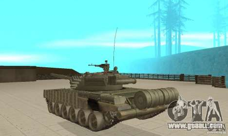 Tank t-72B for GTA San Andreas back left view