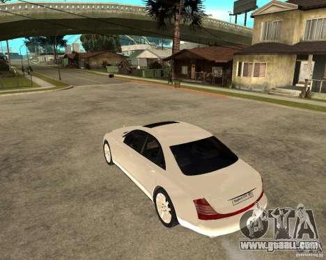 Maybach 57 S for GTA San Andreas left view