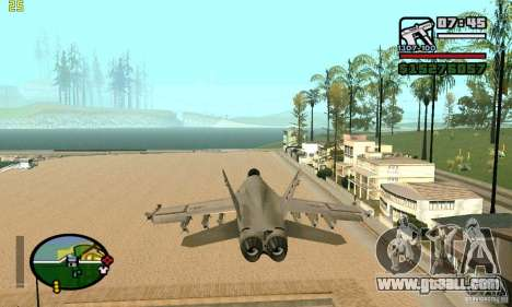 F-18 Super Hornet for GTA San Andreas back left view