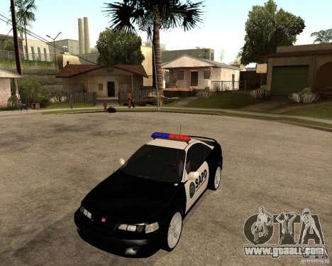 Honda Integra 1996 SA POLICE for GTA San Andreas left view