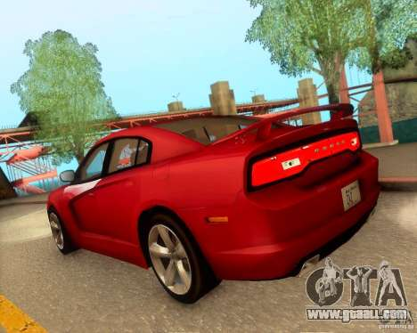 Dodge Charger SRT8 2012 for GTA San Andreas bottom view