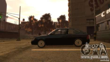 LADA Priora sedan stock 2172 for GTA 4 left view