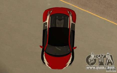 Audi R8 Le Mans Quattro for GTA San Andreas interior