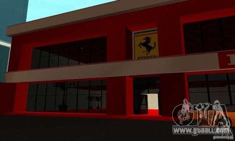 New Ferrari Showroom in San Fierro for GTA San Andreas fifth screenshot