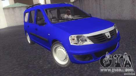 Dacia Logan MCV Facelift for GTA San Andreas