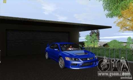 Mitsubishi Lancer Evolution 9 MR Edition for GTA San Andreas back view