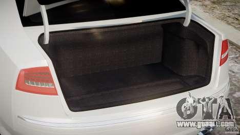 Audi S8 D3 2009 for GTA 4