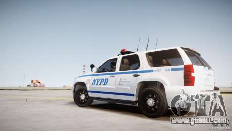 Chevrolet Tahoe 2012 NYPD for GTA 4 left view