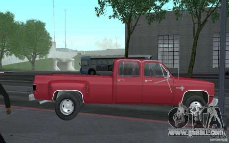 Chevrolet Silverado 3500 for GTA San Andreas inner view