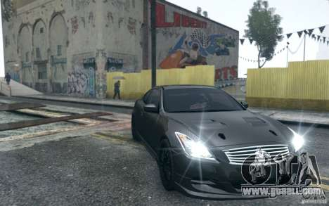 Infiniti G37 Coupe Carbon Edition v1.0 for GTA 4 inner view