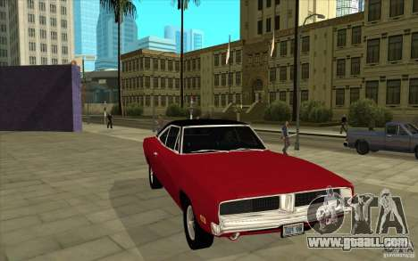 Dodge Charger R/T 1969 for GTA San Andreas back view