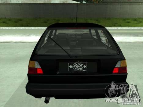 Volkswagen Golf 2 Rat Style for GTA San Andreas back view
