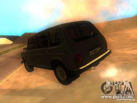 Vaz 2131 NIVA for GTA San Andreas left view