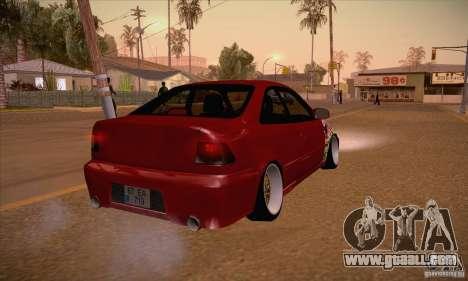 Honda Civic Tuning 2012 for GTA San Andreas right view