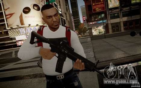 The HK416 (automatic) for GTA 4 sixth screenshot