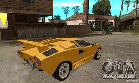 Lamborghini Countach for GTA San Andreas right view