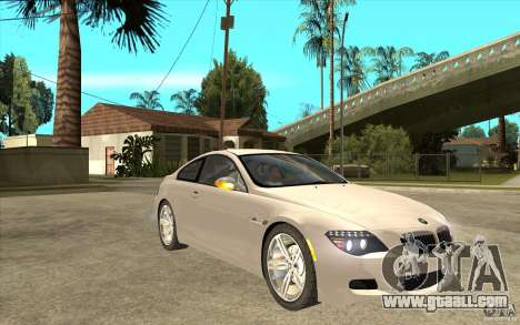 BMW M6 for GTA San Andreas back view