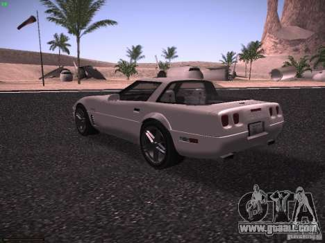 Chevrolet Corvette Grand Sport for GTA San Andreas back view