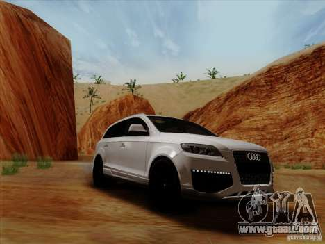 Audi Q7 2010 for GTA San Andreas back left view