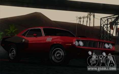 Plymouth Hemi Cuda 426 1971 for GTA San Andreas
