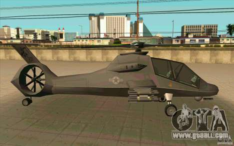 Sikorsky RAH-66 Comanche default grey for GTA San Andreas right view