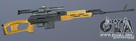 Dragunov sniper rifle (SVD) for GTA San Andreas