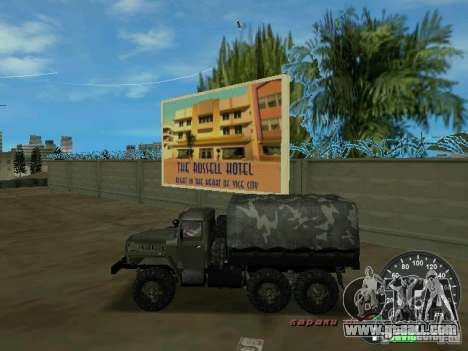 Ural 4320 Military for GTA Vice City left view