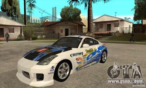 Nissan 350z Stock - Tunable for GTA San Andreas