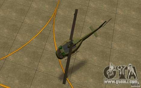 UH-1D Slick for GTA San Andreas back view