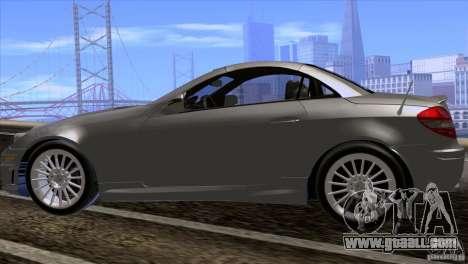 Mercedes-Benz SLK 55 AMG for GTA San Andreas back view