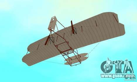 The Wright Flyer for GTA San Andreas side view