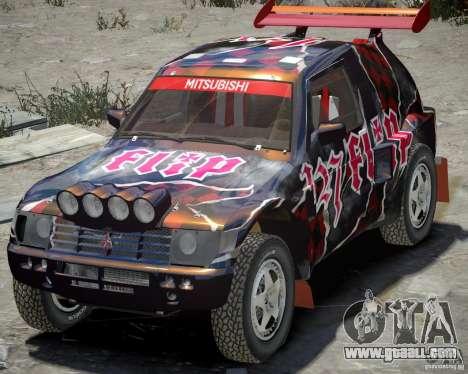 Mitsubishi Pajero Proto Dakar Vinyl 3 for GTA 4 left view